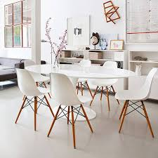 eames inspired dining table eames style dining chair 10 inspired white with pyramid solid oak