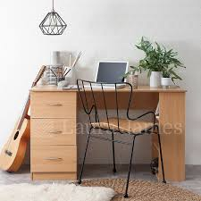 Home Office Writing Desks by Computer Desk 3 Drawers 3 Shelves Home Office Table