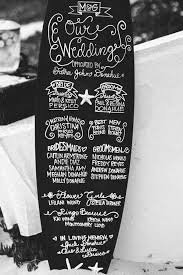 Wedding Program Chalkboard Retro Hawaiian Wedding Decor Wedding Program Chalkboard Wedding