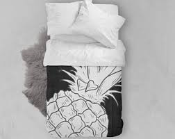 pineapples comforter etsy