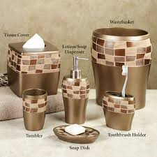 Chocolate Brown Bathroom Ideas by Ceramic Brown Bath Accessories Sets Chocolate And Tan Bathroom