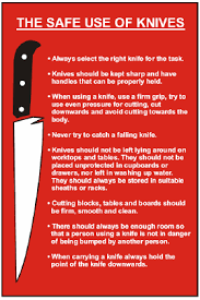 safety kitchen knives labelsource kitchen safety signs