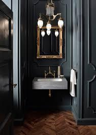 a very blah powder room transforms into a jewel box laurel home