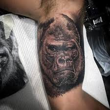 angry gorilla tattoos 100 inner bicep designs for manly
