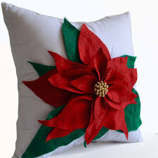 Christmas Decorative Pillow Cases by Ivory Burlap Throw Pillows Embroidered From Amorebeaute On Etsy