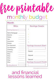 budget planner template free financial spreadsheet printable