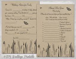 wedding mad lib template wedding mad libs template printable rustic diy butterfly