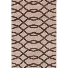 Cindy Crawford Rugs Mystic Poofy Natural 5 Ft X 7 Ft Modern Trellis Area Rug Products