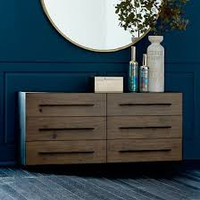 Bedroom Dresser Massaro Metal Wrapped 6 Drawer Dresser Rolled Steel West Elm