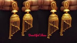 gold earrings jhumka design how to make silk thread jhumkas modern gold jhumkas south indian