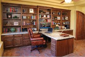 Built In Computer Desks Built In Office With Granite Top Stone Creek Furniture