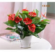 2015 wedding bouquet 37cm long artificial silk flower anthurium
