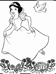 snow white book coloring