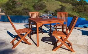 5 Piece Folding Table And Chair Set Malibu 5 Piece Outdoor Dining Set With Square Table And 4 Full