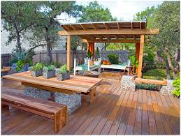 Building A Raised Patio Backyards Amazing Backyard Deck Design Ideas For Designs
