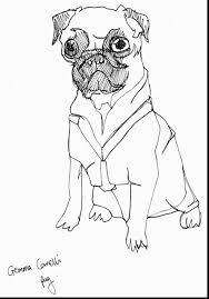 marvelous pug black and white coloring pages with pug coloring