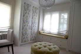 gray fabric closet doors design ideas
