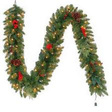 christmas garland with lights christmas garland christmas wreaths garland the home depot