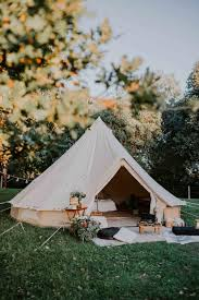 hotel bell tent vip comfy camping interior glamping