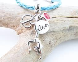 gymnastics gifts gymnastics bracelet gymnastics jewelry