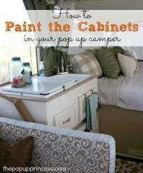 pop up camper remodel painting the cabinets the pop up princess