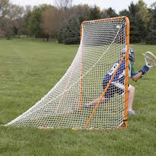 ez goal 6 x 6 ft folding lacrosse goal with throwback walmart com