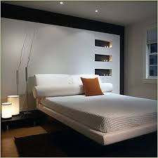 bedroom bedroom decor with modern twin leather and wood panel