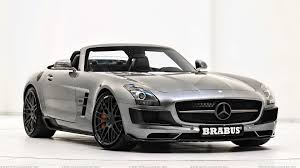 mercedes sls wallpaper brabus mercedes benz sls amg roadster in shine silver wallpaper