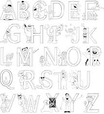 free printable abc coloring pages kids alphabet