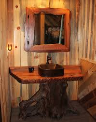 Log Vanity Hand Crafted Rustic Vanities For Your Mountain Home