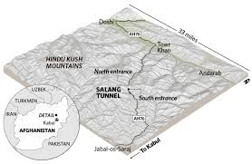 Kabul Map Taliban Attack Key Tunnel Salang Pass Connecting Kabul With