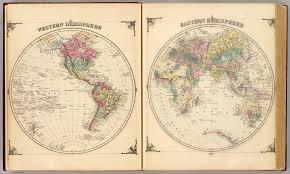 Blank Map Of Western Hemisphere by Western Hemisphere Eastern Hemisphere David Rumsey Historical