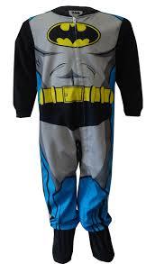 dc comics batman fleece footie one toddler pajamas walmart