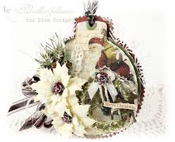 my little craft things pion design christmas ornament card with
