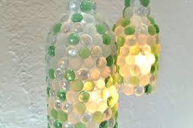 Wine Bottles With Lights Glass Pebble Wine Bottle Pendant Lamps Hometalk