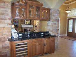 Hickory Cabinets Kitchen Hickory Cabinets With Doublesided Glass Doors Floating Between