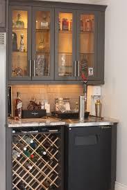 Kegregator Custom Wine Rack In Bar Area With Kegerator And Glass Door Liquor