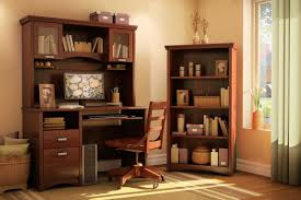 Computer Desk With Hutch Cherry Funiture Computer Desk For Home Ideas With Brown Cherry Wooden