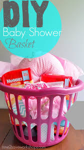 baby shower basket diy baby shower gift basket on a shoestring kasey trenum