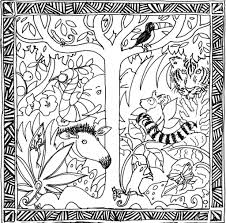 amazon rainforest coloring pages sloth hanging coloringstar