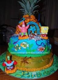 cool homemade spongebob pineapple house cake kotitekoiset