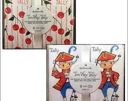 two table progressive tally hallmark tally cards etsy