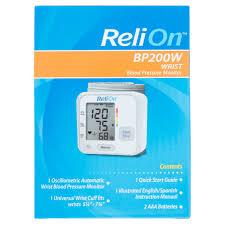 relion wrist blood pressure monitor bp200w walmart com