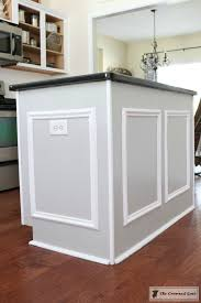 kitchen island molding how to customize a kitchen island on a budget the crowned goat