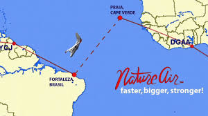 Cabo Verde Map From Praia Cape Verde To Fortaleza Brazil Youtube