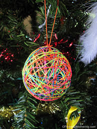 yarn or string ornaments