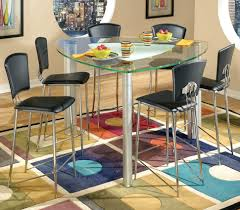Glass Dining Room Set by Triangle Glass Dining Table Set