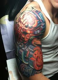 colorful half sleeve tattoo design tattoos book 65 000 tattoos