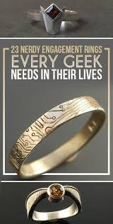 nerdy wedding rings 23 geeky engagement rings that are beyond
