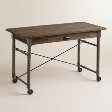 world market josephine desk top 66 magnificent white parsons desk with gold legs havertys blue